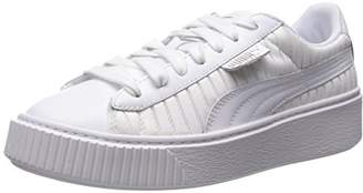 Puma Women's Basket Platform En Pointe Wn Sneaker White