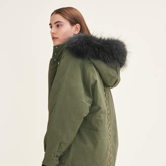 Maje Parka with fur hood