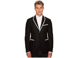 Versace Woven Sport Jacket with Piping Men's Coat