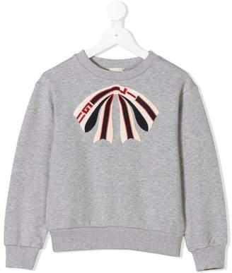 Gucci Kids bow print sweatshirt