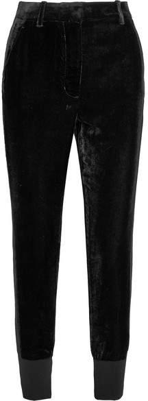 3.1 Phillip Lim Jersey-trimmed Velvet Track Pants