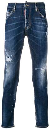 DSQUARED2 distressed slim jeans