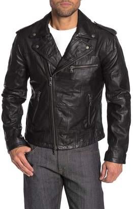 John Varvatos Patchwork Leather Moto Jacket