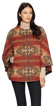 Pendleton Women's Aurora Wool Jacquard Zip Front Cape