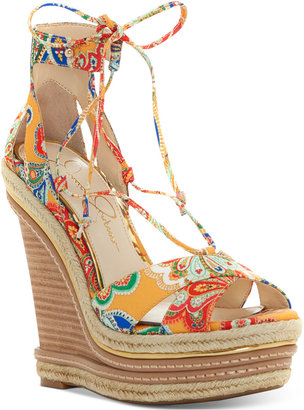 Jessica Simpson Adyson Lace-Up Wedge Sandals $119 thestylecure.com
