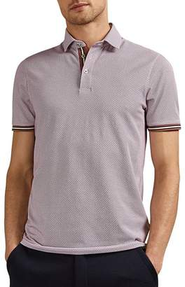 Ted Baker Islanda Geo Print Regular Fit Polo Shirt