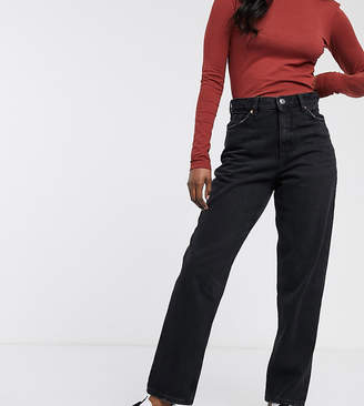 Monki Taiki high waist mom jeans with organic cotton in wash black
