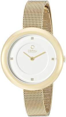 Obaku Women's V162LXGIMG Analog Display Analog Quartz Gold Watch