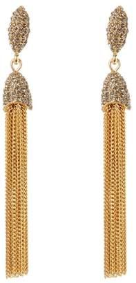 Vince Camuto CZ Chain Tassel Earrings