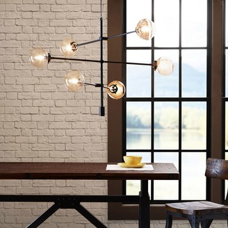 Inkivy INK+IVY 6-Light Modern Glass Chandelier