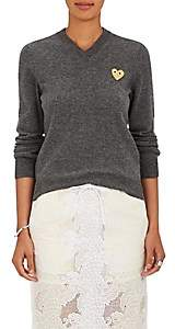 Comme des Garcons Women's Heart Wool Sweater - Gray