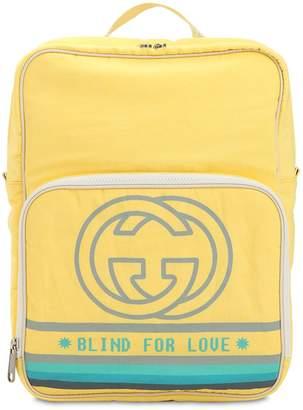 Gucci Gg Logo Printed Nylon Backpack