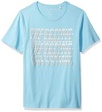 GUESS Men's Short Sleeve Basic Spliced Logo Crew T-Shirt