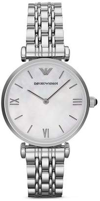 Emporio Armani Three Hand Stainless Steel Watch, 43 mm