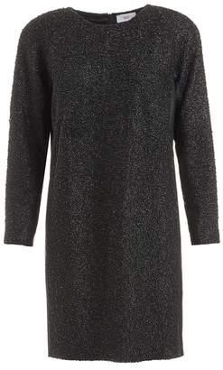 Wtr WtR Pamina Black Embellished Silk Shift Dress