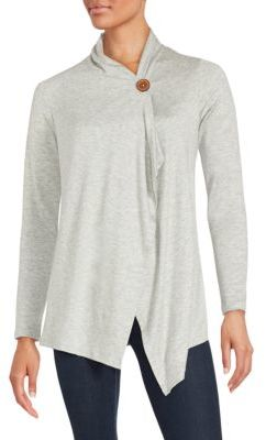 One-Button Asymmetrical Wrap Cardigan $58 thestylecure.com