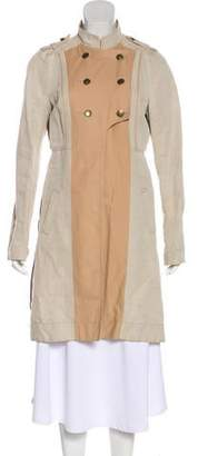 See by Chloe Linen-Blend Button-Up Coat