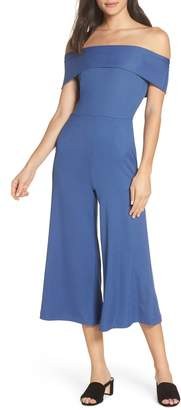NSR Camila Off the Shoulder Crop Jumpsuit