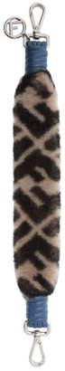 Fendi Grey Shearling Mini Forever Bag Strap