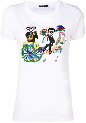Dolce & Gabbana designer patch short sleeve T-shirt