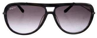 Salvatore Ferragamo Aviator Gradient Sunglasses