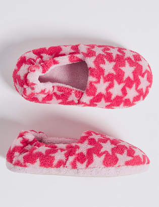 Marks and Spencer Kids Star Print Slippers (5 Small - 12 Small)
