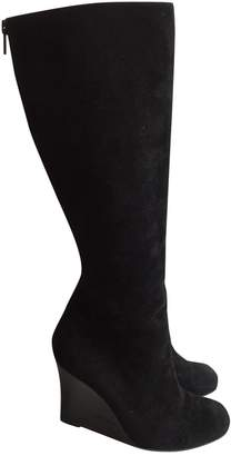 Christian Louboutin Black Suede Boots
