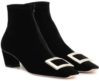 Roger Vivier Belle Vivier 45 velvet ankle boots
