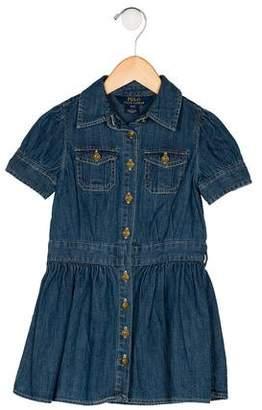Polo Ralph Lauren Girls' Denim Flare Dress