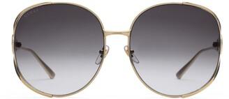 Gucci Round-frame metal sunglasses