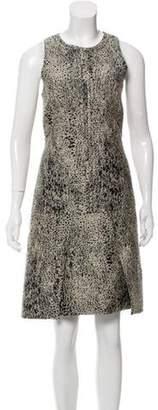 J. Mendel Sleeveless Knee-Length Dress Black Sleeveless Knee-Length Dress