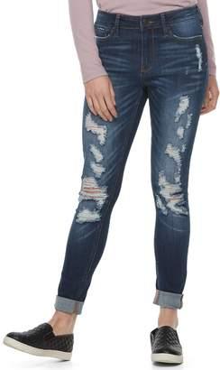 Mudd Juniors' Destructed Cuffed Skinny Jeans