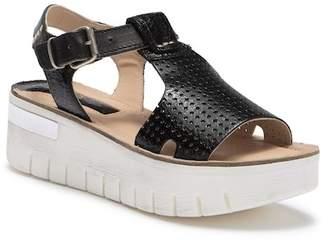 Khrio Perforated Leather Platform Sandal
