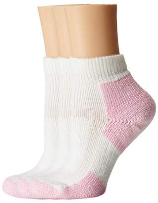 Thorlos Thick Cushion Distance Walking 3-Pair Pack Women's Quarter Length Socks Shoes