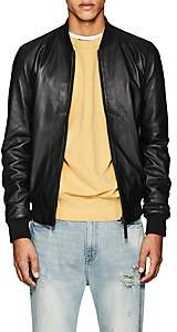Barneys New York Lot 78 x Men's Leather Bomber Jacket - Black