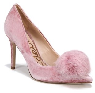 Women's Sam Edelman Haroldson Pump With Faux Fur Pompom
