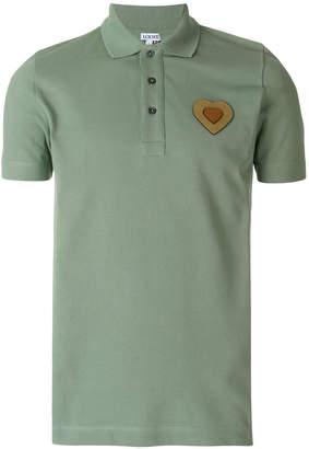 Loewe heart logo polo shirt