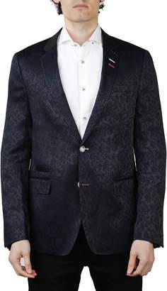 Maceoo Men's Socrate Flower Two-Button Blazer