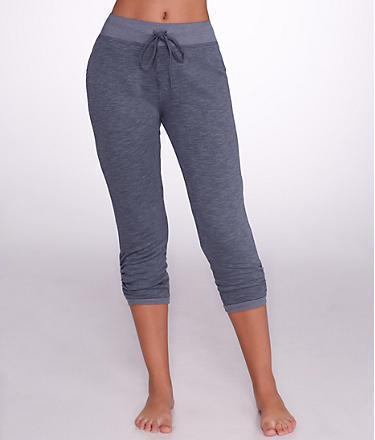 Hard Tail Ruched Leg Capri Sweatpants