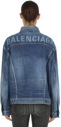 Balenciaga Like A Man Japanese Cotton Denim Jacket