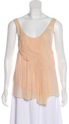 Philosophy di Alberta Ferretti Pleated Silk Top