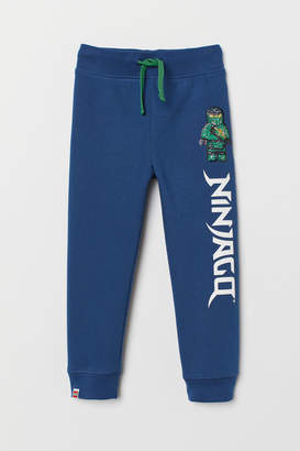H&M Joggers with Printed Design - Blue