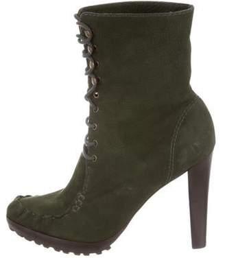 Diane von Furstenberg Platform Lace-Up Boots