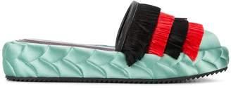Marco De Vincenzo quilted platform slippers
