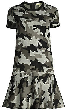 MICHAEL Michael Kors Women's Shimmer Camo-Knit Dress