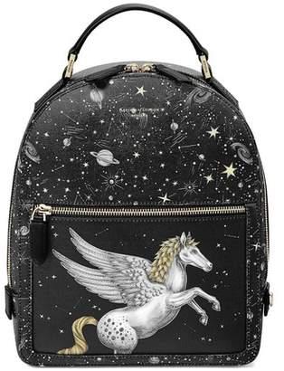 Aspinal of London Pegasus Backpack In Black Pegasus Constellation Print