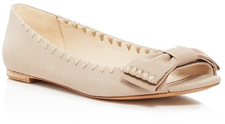Delman Sami Peep Toe Bow Flats $248 thestylecure.com