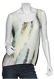 Jonathan Saunders Watercolor Silk Tank