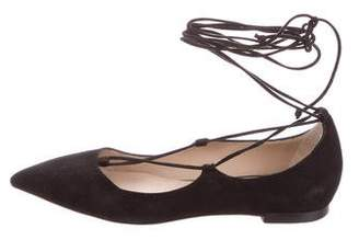 M.Gemi M. Gemi Suede Lace-Up Flats
