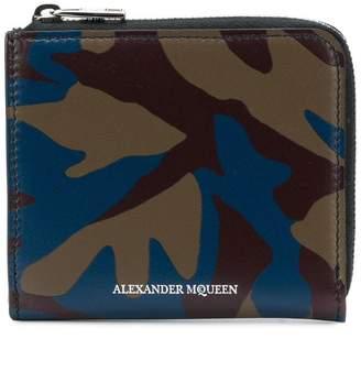 Alexander McQueen camouflage print wallet